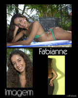 comp card for Fabianna